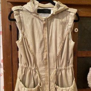 🤩Elie Tahari SzS/P Pale Khaki Glove Leather Vest